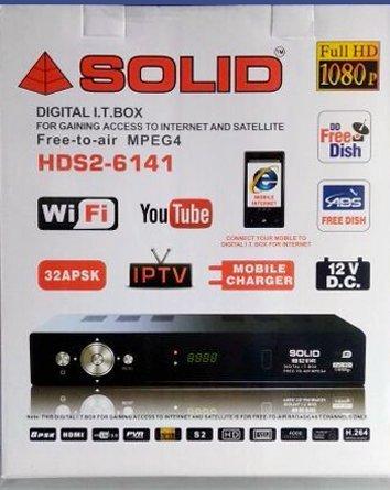 Webshoppers SOLID DVB S2 MPEG 4 Full HD HDS2 6141 IT Box