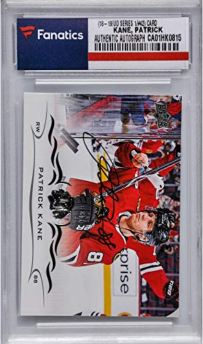 - Patrick Kane Chicago Blackhawks Autographed 2018-19 Upper Deck Series One Hockey #42 Card - Fanatics Authentic Certified