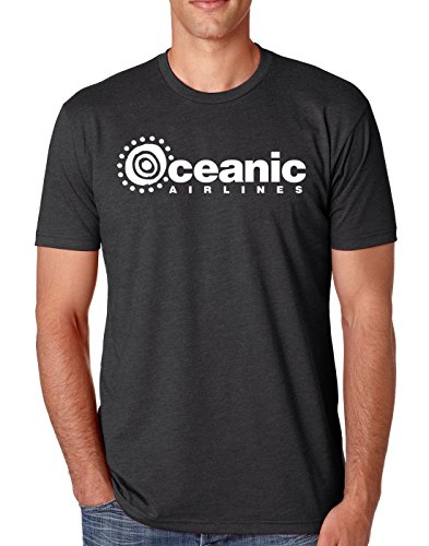 Oceanic Airlines - Brain Juice Tees Oceanic Airlines LOST Mens Shirt (X-Large, Charcoal)