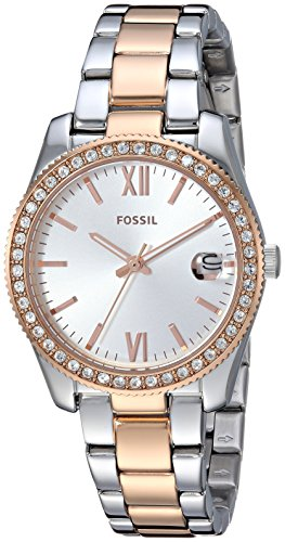 Fossil Women's Scarlette Quartz Watch with Stainless-Steel Strap, Rose Gold, 15.2 (Model: ()