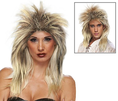 [Blonde and Brown Tina Turner Wig Costume Tina Turner Costume Wig David Bowie Wig] (Tina Turner Wig)