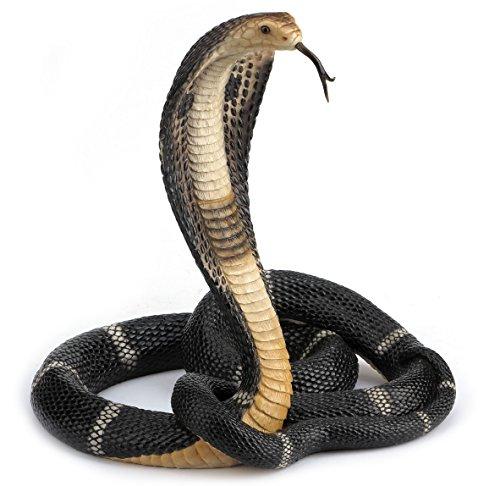 13 Inch Animal Figure Coiled King Cobra Snake Collectible Display