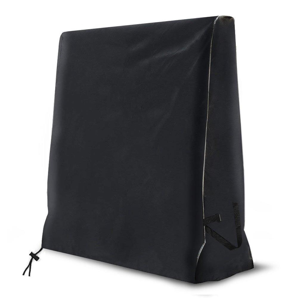 YouNe Funda para Mesa de Ping Pong,420D Heavy-Duty Resistente a la Intemperie Funda para Mesa Ping Pong Exterior Plegable (165x70x185CM )