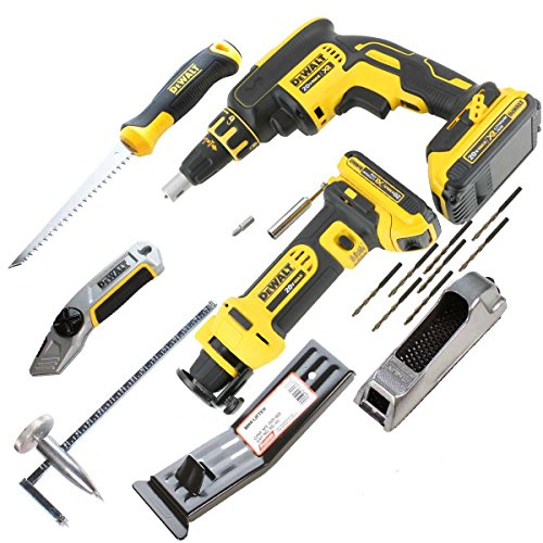 DeWalt CORDLESS Drywall Hangers Tool Kit with 20V Screw Gun & Router, Full Tool & Accessory Bundle