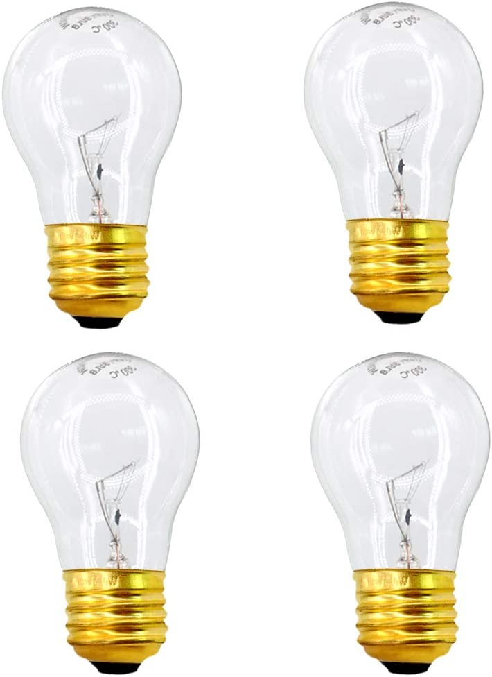 120 Volt A15 40 Watt Light Bulbs,Appliance Bulbs with Medium Base,Refrigerator Bulb Clear Ceiling Fan Bulbs