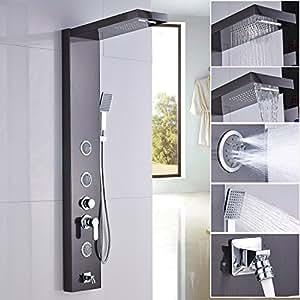 rain shower head with handheld spray. Rozin Bathroom Shower Massage Tub Faucet Panel Set Rainfall Waterall  Head with Handheld Spray Ti