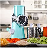 MD Group Vegetable Slicer Manual Potato Roller Cutter Stainless Steel Blade Kitchen Cutting Machine