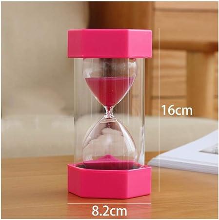 Pink 5miniutes 1,5,10,15,20 30 Minutes Hourglass Timer Plastic Lid /& Sand 4 Colors