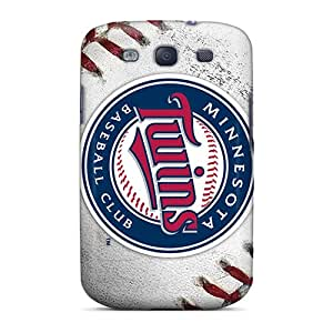 Scratch Protection Cell-phone Hard Covers For Samsung Galaxy S3 With Provide Private Custom Attractive Minnesota Twins Series NataliaKrause