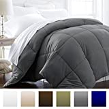 Beckham Hotel Collection 1200 Series - Lightweight - Luxury Goose Down Alternative Comforter - Hotel Quality Comforter and Hypoallergenic -Full/Queen - Gray