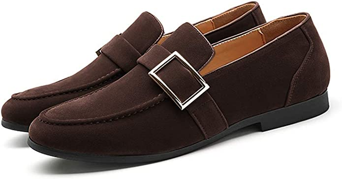 Mens Retro Shoes | Vintage Shoes & Boots FLQL Men's Luxury Penny Suede Leather Loafer Plus Size Buckle Dress Shoes Size 7-13 $29.95 AT vintagedancer.com