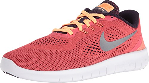 Price comparison product image Nike 833993-801 : Free Run GS Ember / Purple / silver Youth (4.5 Big Kid M)