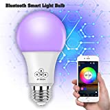 Magic Hue Bluetooth_Mesh Smart Light Bulb, Multicolored, No Hub Required, 110-220v A19 E26 iOS Android App Controlled Smart Light Bulb