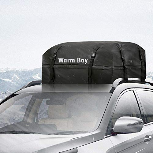 Car Roof Cargo Bag, [2018 Updated] Waterproof Rooftop Cargo Carrier (15 Cf) by Warm Bay