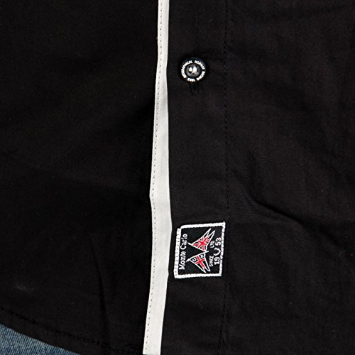 GEOGRAPHICAL NORWAY Herren Kurzarm Hemd Zucre Black