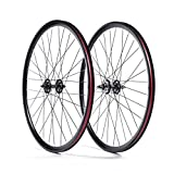 State Bicycle Fixed Gear Deep Profile Wheel Set, 700C, Black