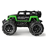 Gizmovine Mud Monster Pickup Remote Control RC Truck RC Car 1:16 Scale Rechargeable w/ Mud Splatter Paint Job Green&Black