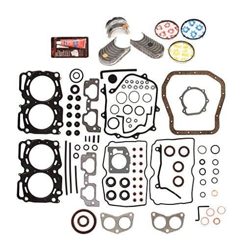 Evergreen Engine Rering Kit FSBRR9009MLSEVE\0\0\0 Fits 99-03 Subaru 2.5 SOHC EJ25 Full Gasket Set, Standard Size Main Rod Bearings, Standard Size Piston ()