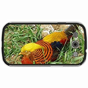 New Style Customized Back Cover Case For Samsung Galaxy S3 Hardshell Case, Black Back Cover Design Golden Pheasant Personalized Unique Case For Samsung S3
