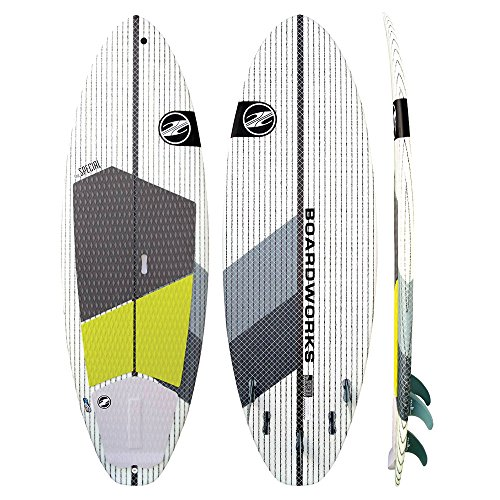 Boardworks Surf Special 7'4 Surf Stand Up Paddleboard - 7ft4/Grey-White by Boardworks