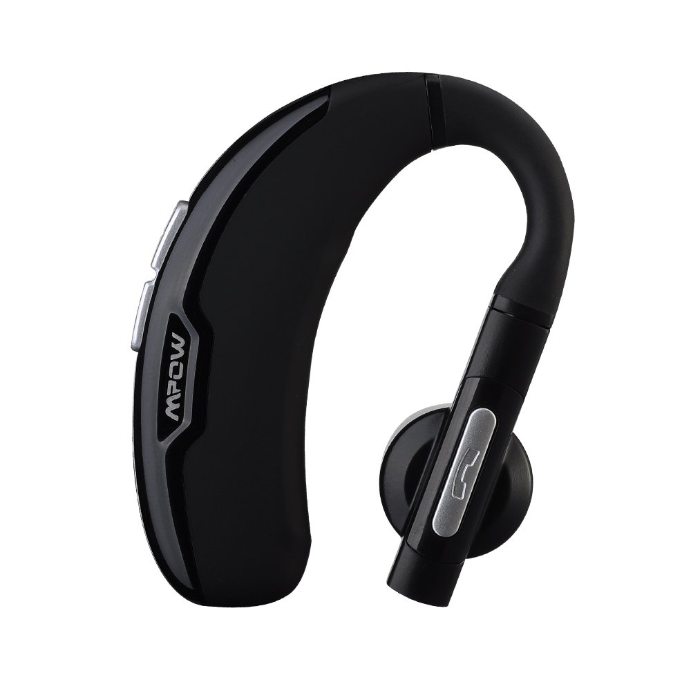 Mpow FreeGo Wireless Bluetooth 4.0 Headset Headphones with Clear Voice Capture Technology and Echo Cancellation for iPhone 6s / 6 Plus / 5, Galaxy Note 4 S6 and other Cellphones
