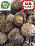 GROWN ORGANICALLY PREMIUM ORGANIC DRIED SHIITAKE CHINESE MUSHROOM SIZE 5-6 cm, 1 LB (16OZ),GRADE AA++