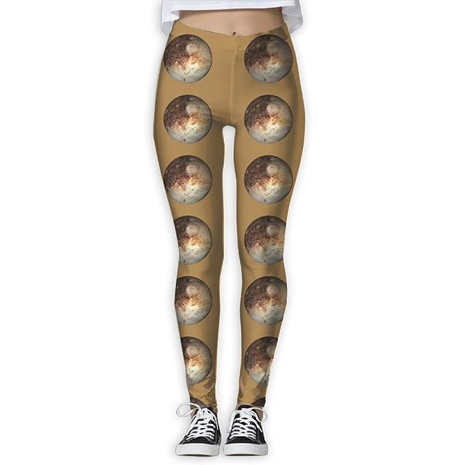 WERTYUB Womens Skinny Yoga Pants, Pluto Planet 3D Print ...