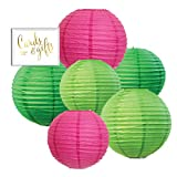 great tropical patio design ideas Andaz Press Blush Pink, Emerald Green, Kiwi Green Hanging Paper Lanterns Decorative Kit, 6-Pack with Free Gifts Table Party Sign, Tropical Luau, Cactus, Llama, Boho Pineapple, Pastel Jungle Birthday