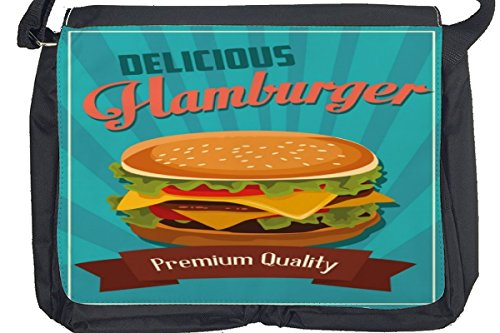 Borsa Tracolla Arredamento Cucina Hamburger Stampato