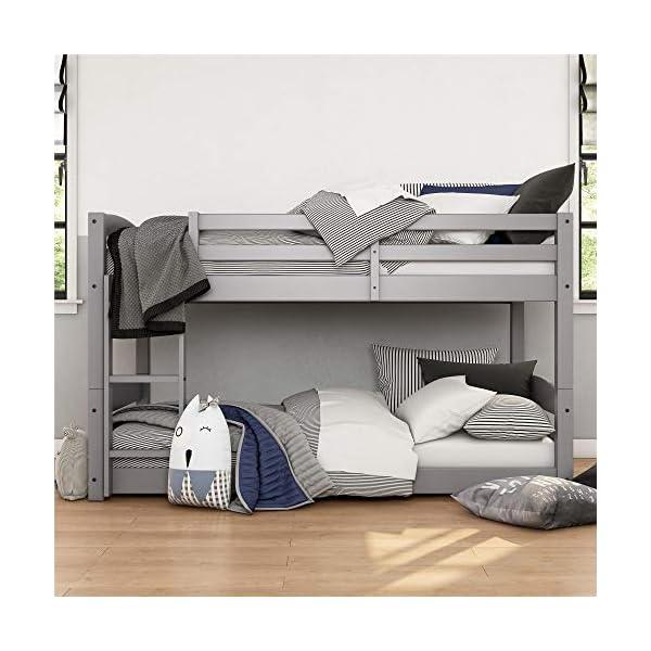 Max & Finn Twin Bunk Bed, Gray 5