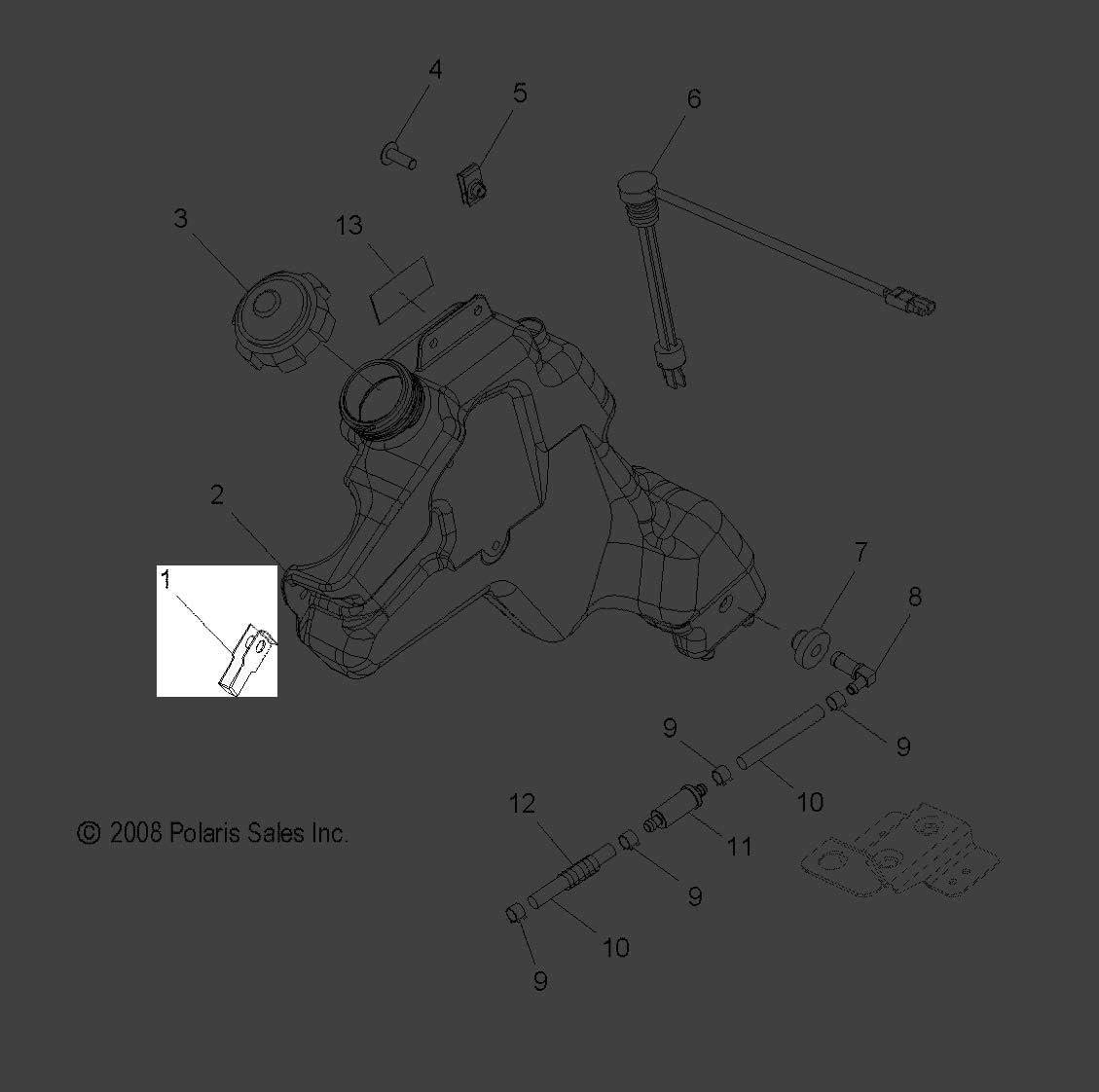 7512284 NOS Polaris New OEM Bolt Socket