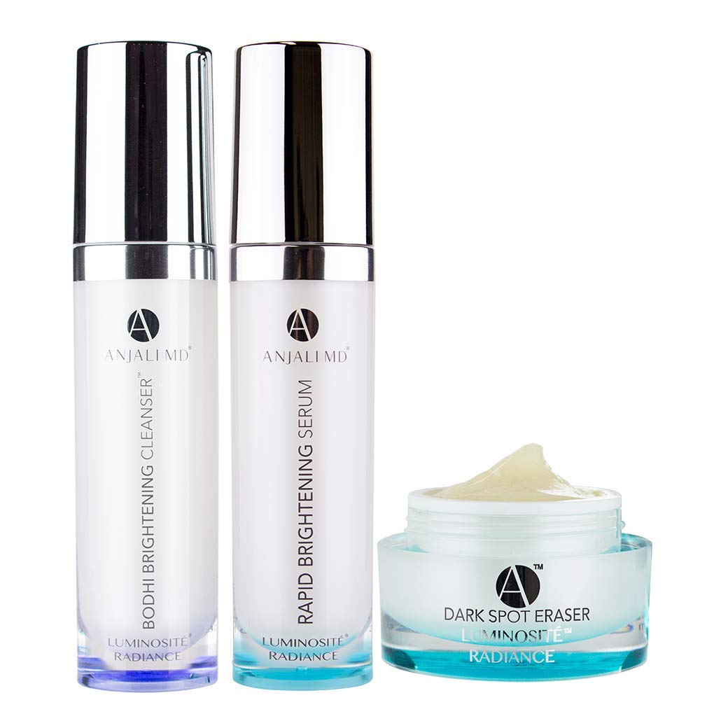 ANJALI MD Brightening Dark Spot Corrector System - 3-Step skincare for brown spots, discoloration, dull skin and sun damage