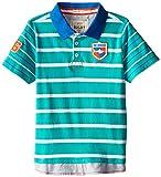 Hatley Little Boys' Boys Polo T-Shirt The Sharks, Blue, 3T