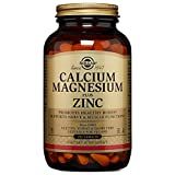 Solgar Calcium Magnesium Plus Zinc Tablets, 250 Count