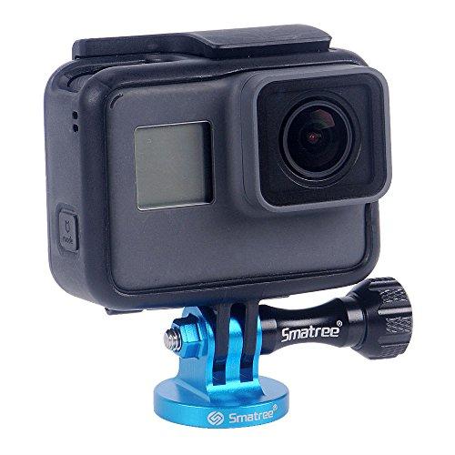 Smatree Aluminum Tripod Mount Adapter for GoPro Session, Hero 8,7, 6, 5, 4, 3 Plus, 3, 2, 1 HD, GoPro Hero 2018,DJI OSMO Action,Joby Gorilla Pod,GoPro Hero 7 Silver,GoPro Tripod, Blue
