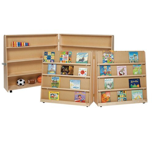 Wood Designs 48'' Folding Double Sided Book Display by Wood Designs