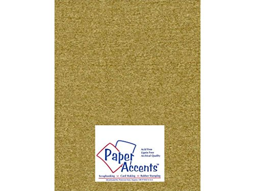 Accent Design Paper Accents ADP8511-5.881 Pearlized Gold Leaf Cardstock (Leaf Pearlized Gold)