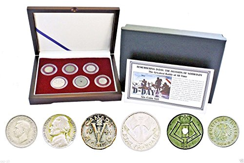 Remembering D-Day: The Invasion of Normandy Six Coin Presentation Box Set