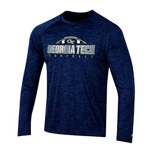 NCAA Georgia Tech Yellow Jackets Mens NCAA Men's Long Sleeve Raglan Teechampion NCAA Men's Long Sleeve Raglan Tee, Sports Navy, X-Large (Clothing Georgia)