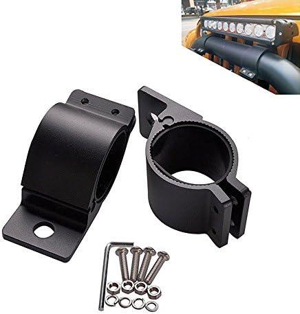 Triclicks Schwarz Aluminum Auto 49mm/54mm Rohrschellen Arbeitsleuchte Arbeitsscheinwerfer Zusatzscheinwerfer Licht Schellenklemmung Montage Halterung LED Lichtleiste