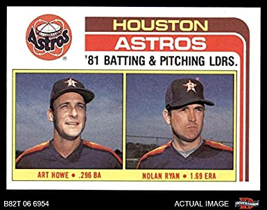 Amazoncom 1982 Topps 66 Astros Leaders Nolan Ryanart