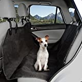Pet Seat Cover Car Protector- Bench Hammock Backseat Liner - Quilted Waterproof All Weather Mat with Non-Slip Backing for Car Truck SUV by PETMAKER