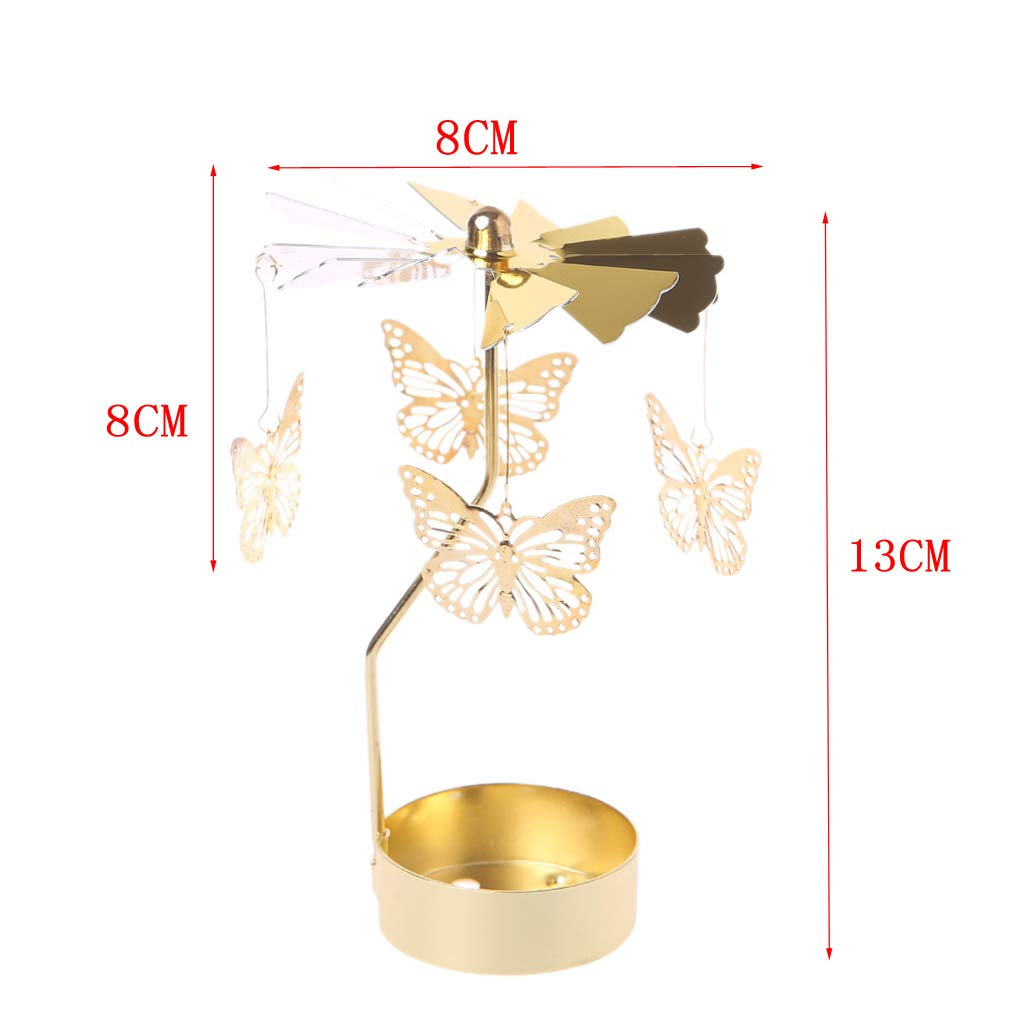 rotatifs Rotatif Carrousel Support de Bougie Chauffe-Plat lumi/ère Cadeau de Mariage D/écor Loegrie