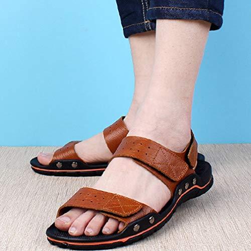 Playa Zapatos Reddishbrown Sintética Piel Transpirables 47 Deportivas Pescador Zapatos Aire De Sandalias Hombres Verano Para reddishbrown Zapatillas Libre Al Zapatillas HaqxnCgFw
