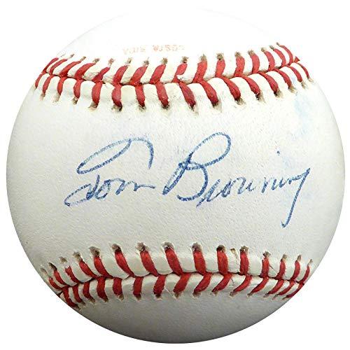 Tom Browning Signed Ball - Official 1990 World Series Beckett BAS #H75140 - Beckett Authentication - Autographed Baseballs ()