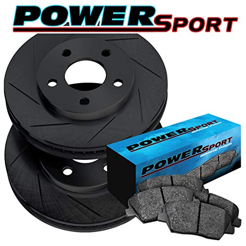PowerSport Drilled Slotted Rotors and Ceramic Pads BLCC.58006.02 COMPLETE KIT