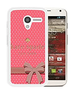 Fashionable And Unique Kate Spade Cover Case For Motorola Moto X White Phone Case 192