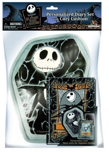 Nightmare Before Christmas Pillow with Pocket & Diary