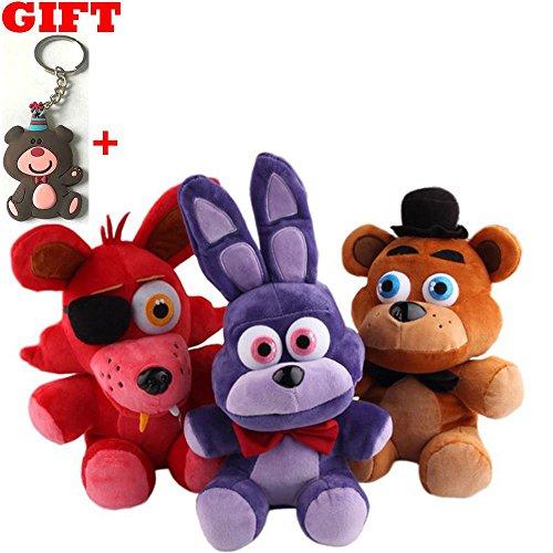 [Five Nights At Freddy's 4 FNAF Bonnie Foxy Freddy Fazbear Bear Plush Toys Size: 10inch 3pcs/set] (Sims 3 Bear Costume)