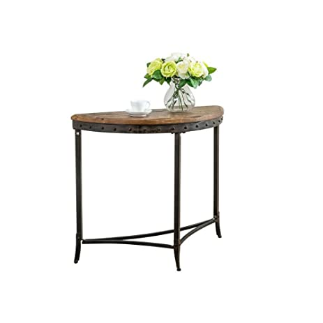distressed entry table. modern rustic trenton distressed solid pine wood accent metal console sofa entry table l